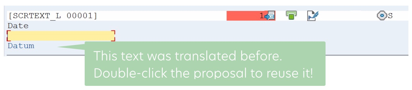 Translators can reuse translations with the help of the Proposal Pool.